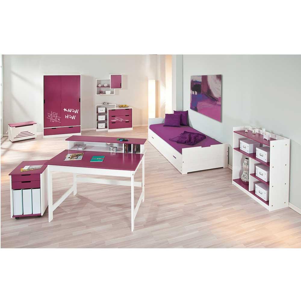 Kinderschlafzimmermöbel Set Liliano in Weiß (8-teilig) Pharao24