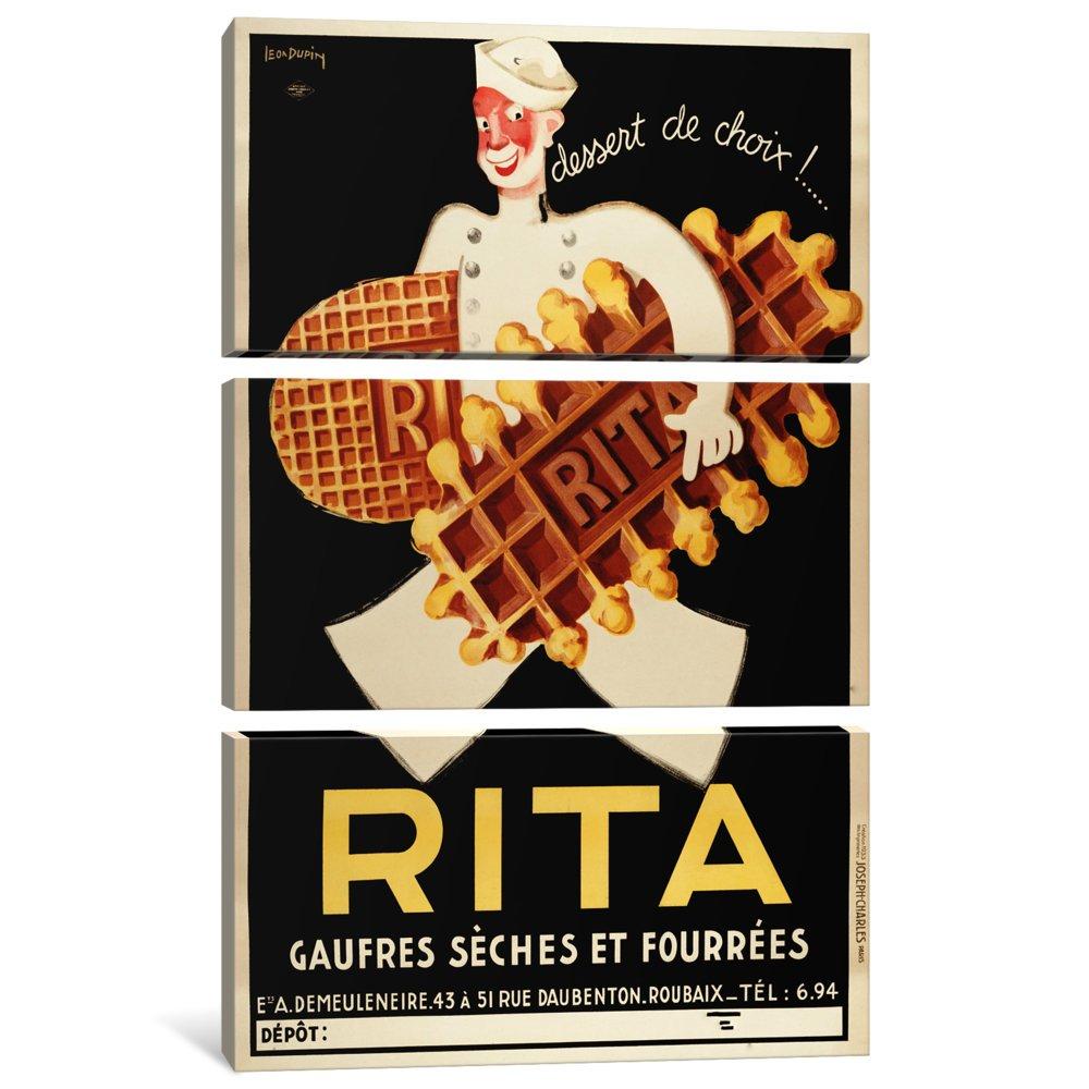 1.5 x 40 x 60-Inch iCanvasART 3 Piece Rita-Vintage Ad Poster Canvas Print by Unknown Artist