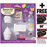 Sweets Set (Cake Bank, Cupcake & Ice Cream Treasure Boxes) Decorate-Your-Own Kit + FREE Melissa & Doug Scratch Art Mini-Pad Bundle [95358]