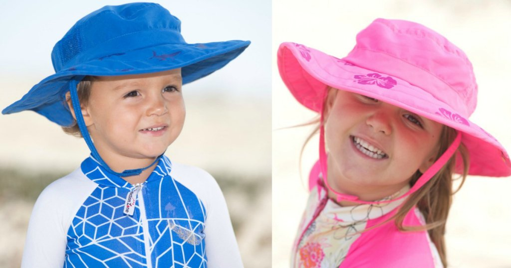 2pk Kids Safari Hat Sun Protective Zone UPF 50+ Child Block UV Rays Shade 938151 Pink Girls