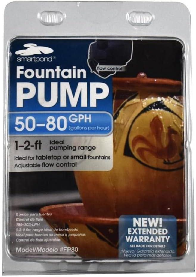 Smartpond Fountain Pump 50-80 Gph : Garden & Outdoor