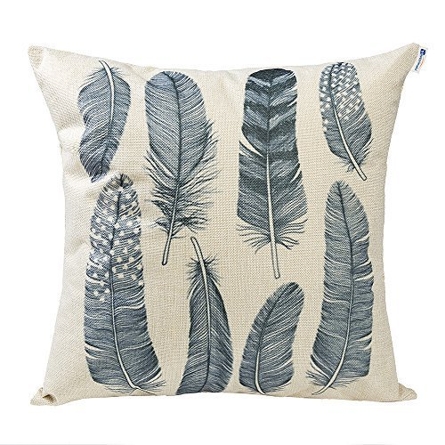 Mecor Happytimelol 18 x 18 Cotton Linen Throw Pillow Case Co