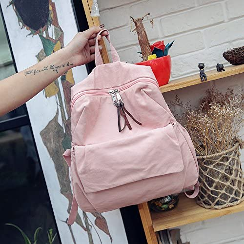 BAGEHUA 小型の新鮮なカラーのキャンバスバックパックバックパックの女子大生のバッグコンピュータバッグ All-Match 風(高 36 センチ幅 28 センチ厚さ 15 cm )