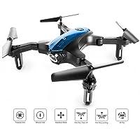 Ironpeas  Drohne für Anfänger, transportierbarer Mini RC-Quadrocopter mit faltbaren Armen zum drinnen/draußen Spielen, 2.4 Ghz 4 CH 6-achsige Gyro/EIN-Tasten-Rückkehr/Kopflos-Modus/Höhe-halten / 3D-Flips, einfach zu kontrollieren, schwarz