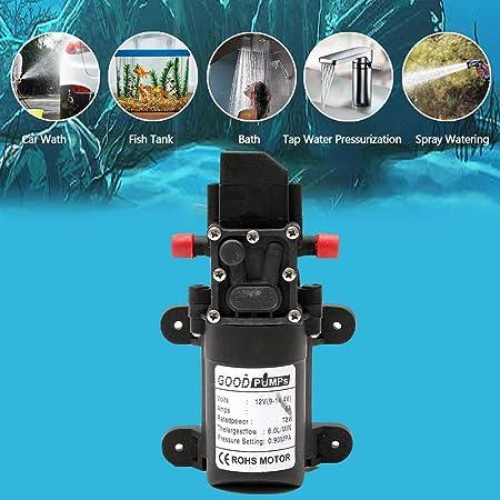 12V 116PSI//160PSI 60W//100W High Pressure Diaphragm Water Pump Self Priming Boat