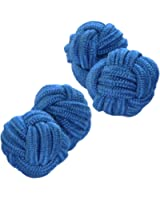 Blue Shade Silk Knot Cufflinks | Cuffs & Co