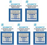 50 SchmetzUniversal Sewing Machine Needles -Assorted sizes- Box of5 cards