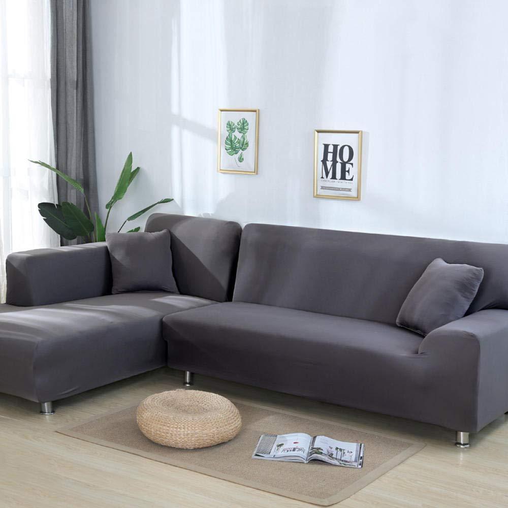 AMZJIEFU Fundas De Sofas Chaise Longue Solid Color Corner ...