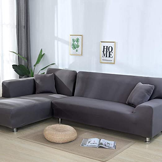 AMZJIEFU Fundas De Sofas Chaise Longue Solid Color Corner ...