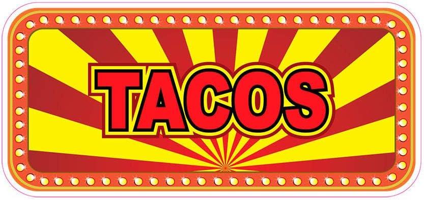 Tacos Concession Restaurant Food Truck Die-Cut Vinyl Sticker 8