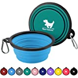 Expandable Dog Bowls for Travel, 2-Pack Dog Portable Water Bowl for Dogs Cats Pet Foldable Feeding Watering Dish for Travelin