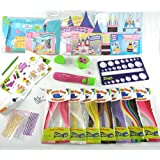 Quill On Quilling Paradise-Multi Color- Craft Kit for Girls- Make Popup Birthday Cards and 3D Photo Frame- with Motorized Quilling Tools- Excellent Birthday Gift for Age Group 7 Year