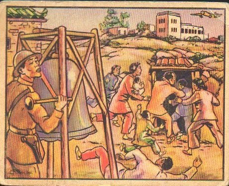 1938-gum-inc-horrors-of-war-non-sports-card-76-warning-of-an-air-raid-in-china-exmt-condition