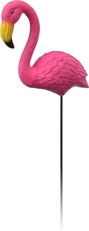 Set of 4 Pink Flamingo Plastic Plant Pot Vase Border Stick Garden Ornament Decoration Decor
