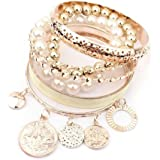 Amonfineshop(TM) 1 Sets Korean Fashion New Style Mädchen Exquisite Münzen-Perlen-Armband-Schmuckhohl