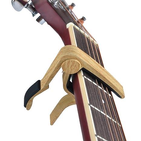 Cejilla para guitarra de una mano Myckuu -Cejilla para guitarra acústica o elé