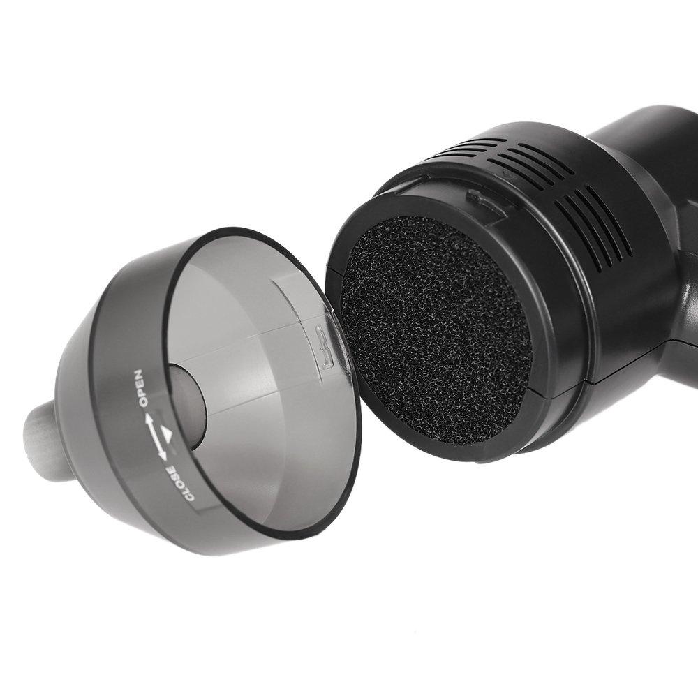 Blusea Aspirapolvere Portatile Mini Dustbuster Aspirapolvere a Mano per Animale Domestico//Auto//Casa//Ufficio//Tastiera Aspiratore USB con Accessor Nero
