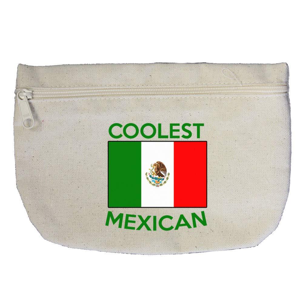 Coolest Mexican Cotton Canvas Makeup Bag Zippered Pouch