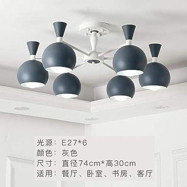 WSYYWD Luces de techo LED modernas post nórdicas lámpara de hierro ...