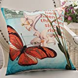 ZZYHOME-American Creative Sofa Cushion Throw Pillow Home Decor office and car Decorative Cushion ,4545cm( Hood + pillow),Z Butterfly Dance Fuser Incense