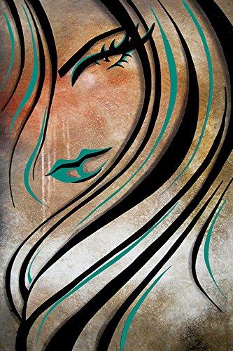 Effortless by Fido Studio 36x24 Giclee Edition Art Print Poster Wall Decor Sexy Female Fashion Hair Salon DIVA Glam Retro Green - Glam Retro