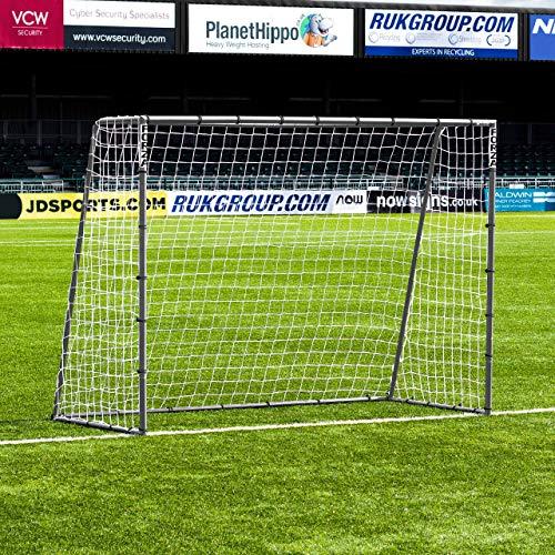 (Net World Sports Forza Steel42 Soccer Goal | Premium Backyard Soccer Goals for Juniors | Weatherproof Steel Goals | Choose Your Size (8 x 6))