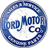 Ford Motor Company Sales & Service Genuine Parts Circle Sign