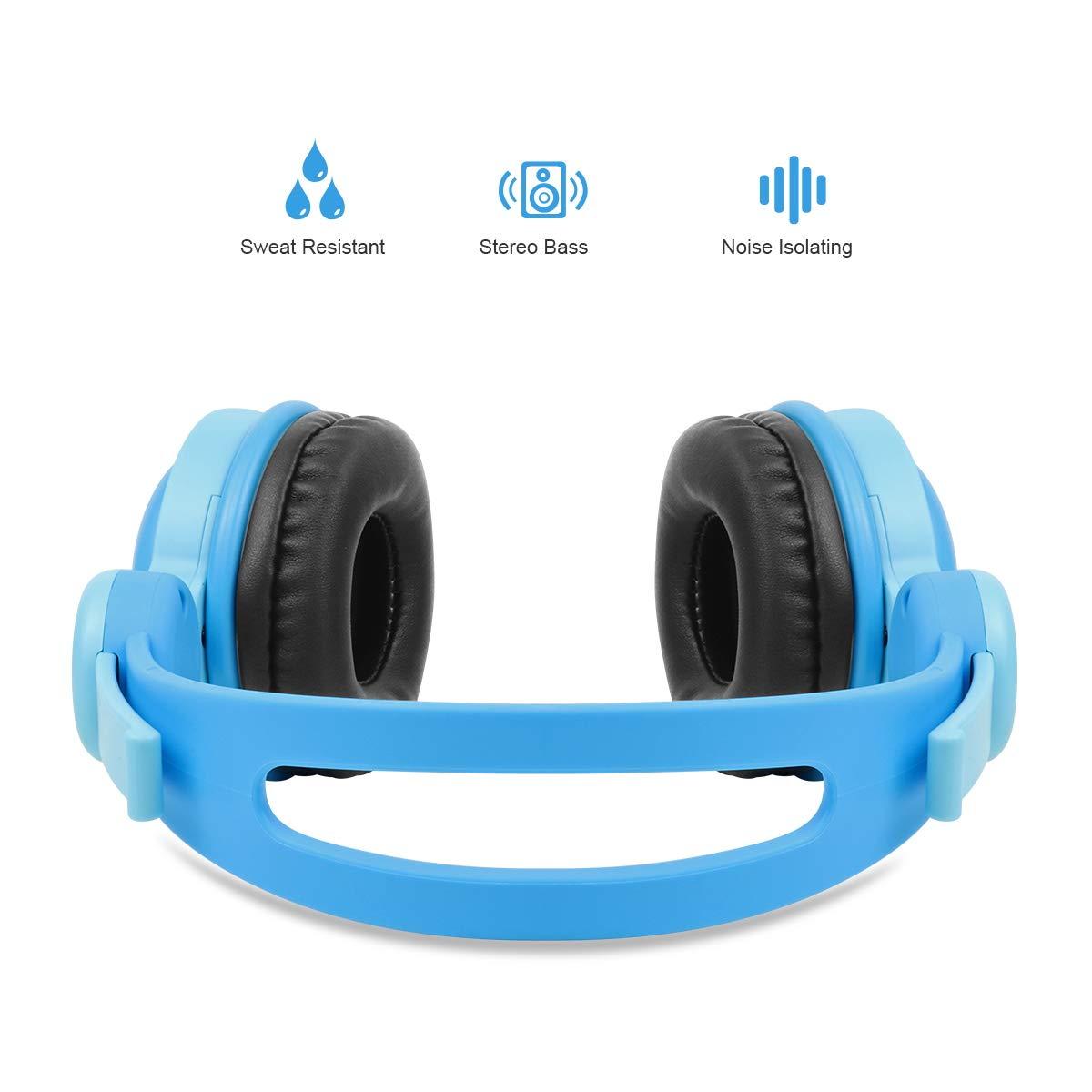 Fanxieast - Auriculares de Diadema con Cable y micrófono para Niños: Amazon.es: Electrónica