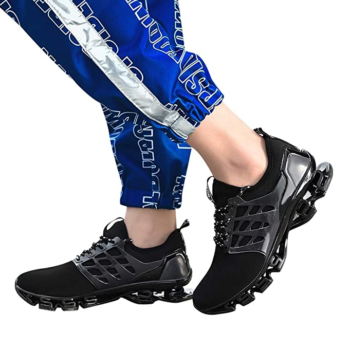 JiaMeng Zapatillas Running para Hombre Aire Libre y Deporte Transpirables Casual Zapatos Calzado Deportivo Casual Zapatos para Correr Zapatos Tejidos ...