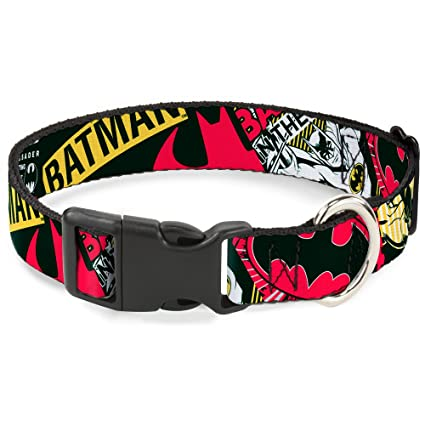 "Buckle-Down Plastic Clip Collar - Batman Caped Crusader - 1/2"" Wide"