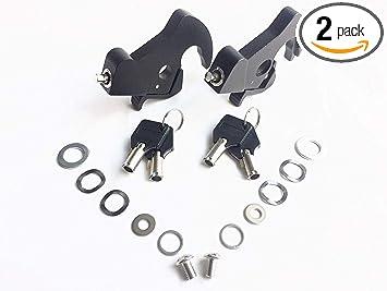 Black HD Detachables Latch Kits For Harley Touring Sissy Bar Luggage Racks