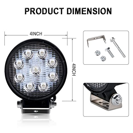 Amazon.com: TURBOSII DOT Approvde 10PCS 4 Inch Led Work Light Bar 27w Driving Pods Spot Beam Work Lamp For Off-Road Suv Boat 4X4 Jeep JK 4Wd Truck 12V-24V: ...