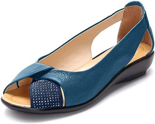 Socofy Womens Ladies Peep Toe Sandals