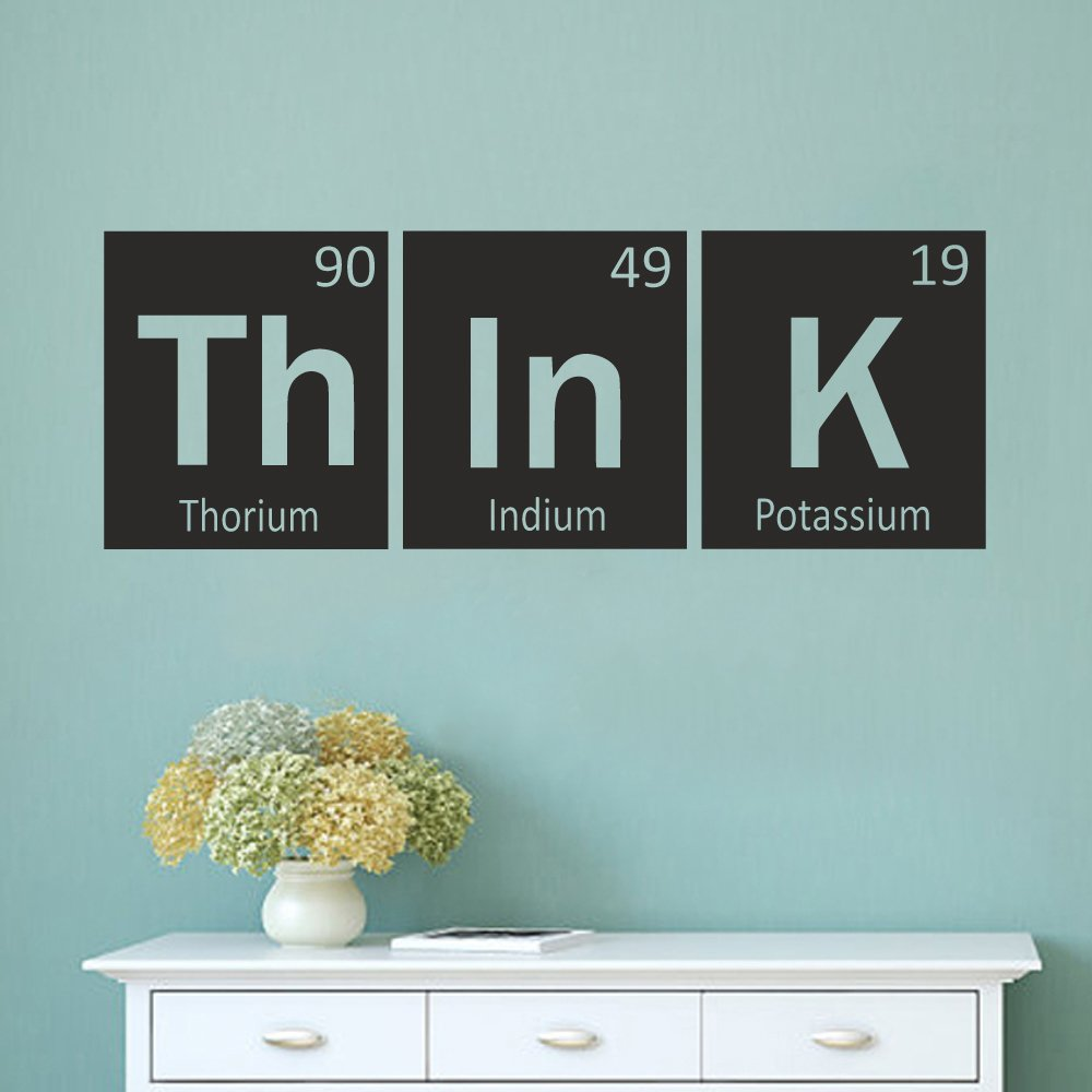 Science Bedroom Decor Think Wall Decal Periodic Table Decal Elements Vinyl Decal Science