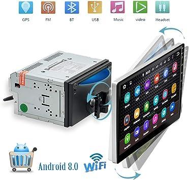 Podofo radio del coche Bluetooth Android 8.0 WiFi GPS coche ...