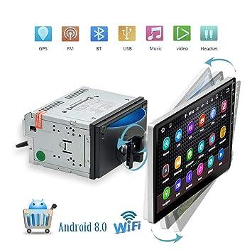 Podofo radio del coche Bluetooth Android 8.0 WiFi GPS coche multimedia 10,1 pulgadas pantalla