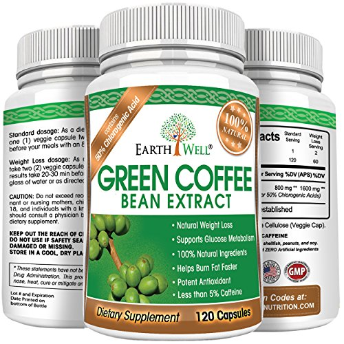 Green Coffee Bean Extract - Best Natural Weight Loss Supplement and Appetite Suppressant - Burn Fat Faster with Premium Quality Dietary Pills - 50% Chlorogenic Acid - 800mg - Pure and Clinically Proven - 120 capsules by CovertSafe (Image #5)