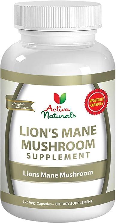 Lions Mane Mushroom Supplement - 120 Veg. Capsules with Lion's Mane Mushrooms