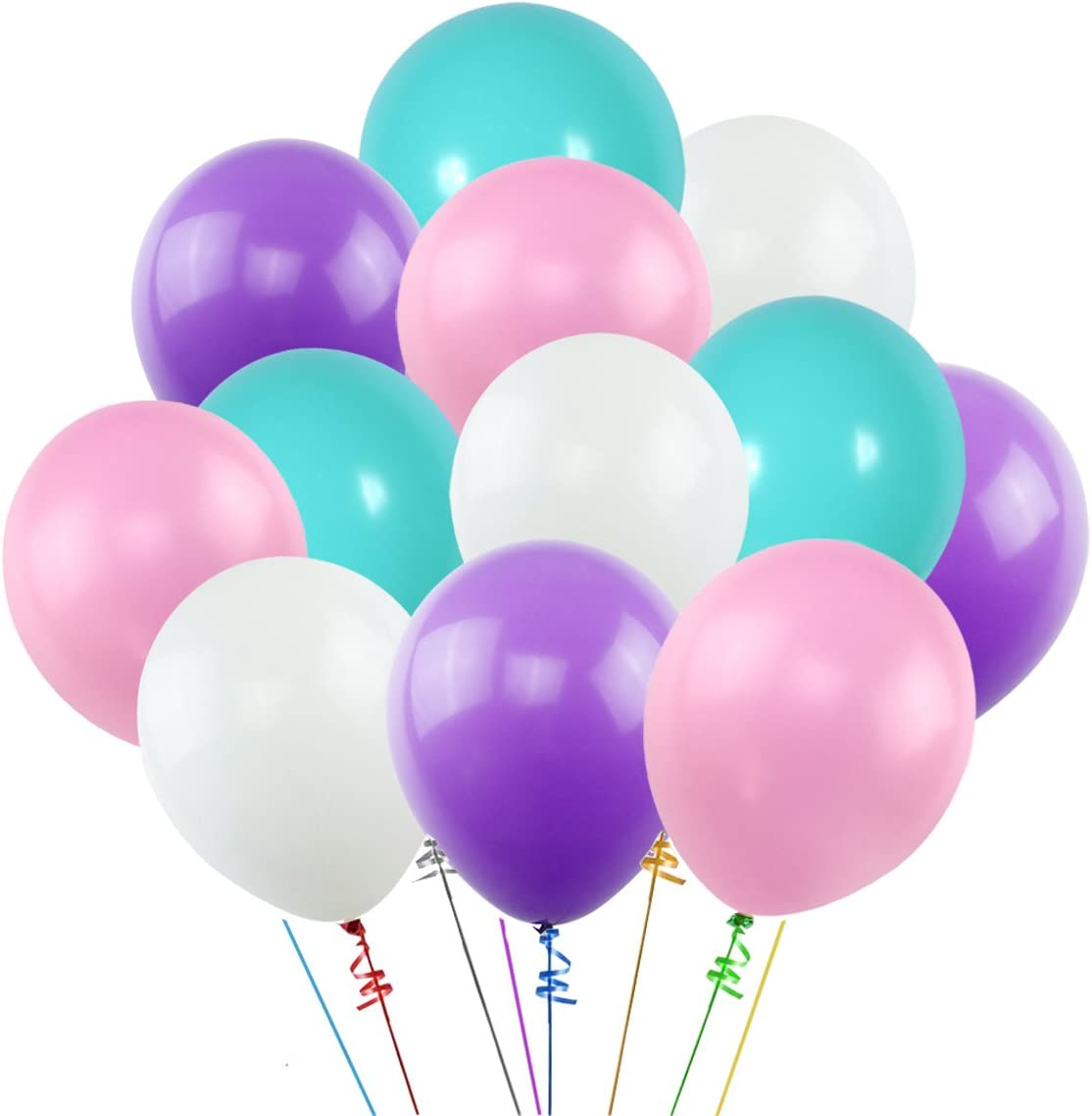 Multipack 25cm Party // Birthday Balloons Sky Blue /& Lilac Purple