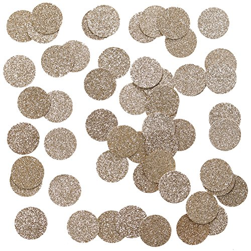 Ling's moment Rose Gold Glitter Paper Confetti for Wedding party, Table Confetti, Princess Party & Christmas Decorations, DIY Kits, 100pcs of 1