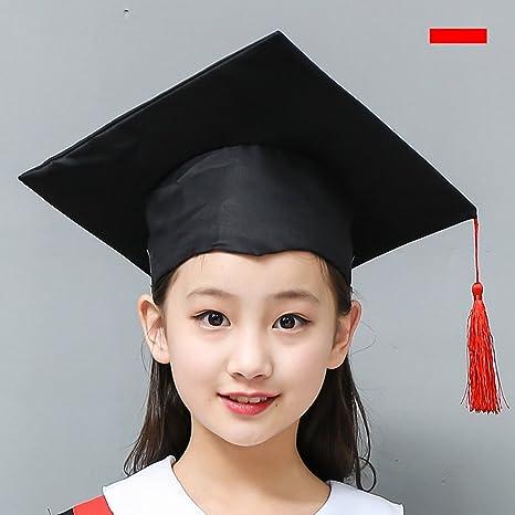 LUOEM Cappello per laurea da 3 pezzi Cappello per costume Accessorio da  dottorato con fiocco rosso d3c05ea8fe13
