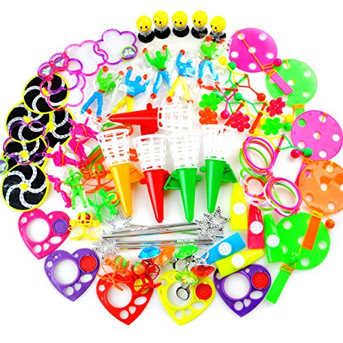 Amy&Benton Pinata Filler Toys Classroom Treasure Box / Chest Prizes for Kids Birthday Party Favors (Big Size 80 - Heart Shape Face Glasses
