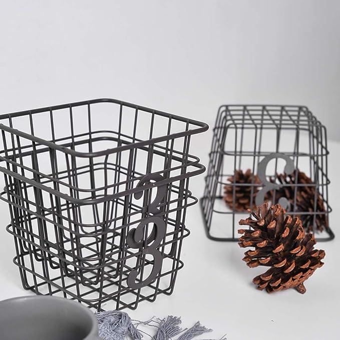Fenteer Eisen Korb Metall Klein Aufbewahrungskorb aus Eisen für ...