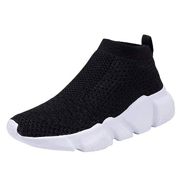 Ushero Enfant Chaussures Sport Gym Fitness Chaussures d été Sneakers  Respirantes et Légères Confortable athlétique eaca086f75b
