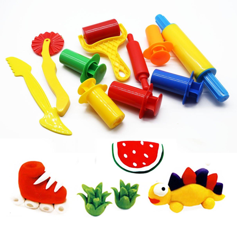 23 St/ück WonderforU Knetwerkzeug Teig Plastilin Werkzeuge Knete zubeh/ör Ausstechformen K/üchenspielzeug