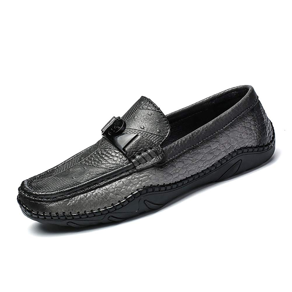 Herren Casual Lederschuhe Soft Bottom Flat Loafers Komfort Fahren Schuhe Niedrig-Top Turnschuhe Formal Geschäft Work