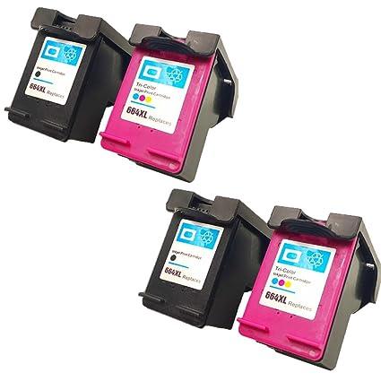 QINK (4 unidades) alta calidad cartuchos de tinta remanufacturados ...