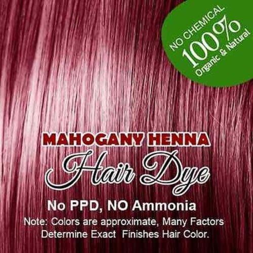 (Mahogany) Henna Hair Color – 100% Organic and Chemical Free -