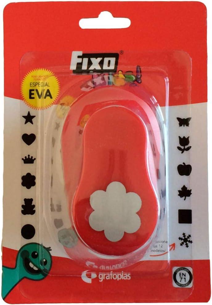 rouge petite taille Fixo Perforatrice avec formes fleur