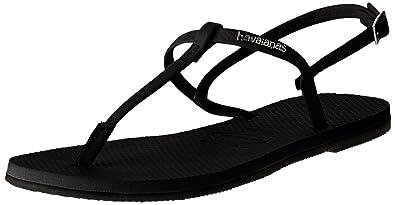 0cd922571821a Havaianas Womens You Riviera Holiday Lightweight Beach Summer Flip Flops -  Black - 6